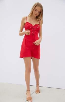 KENDALL + KYLIE Kendall & Kylie Lace-Up Linen Mini Dress