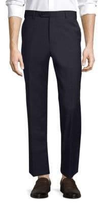 Zanella Devon Slim-Fit Wool Flat-Front Pants