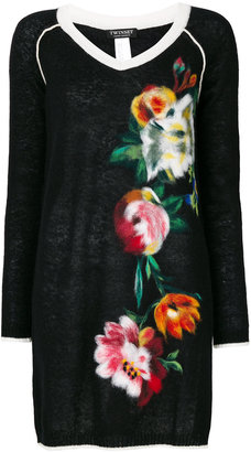 Twin-Set floral embroidered sweater $333.72 thestylecure.com