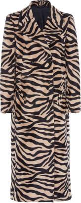 BLAZÉ MILANO Great Zebra-Print Long Coat