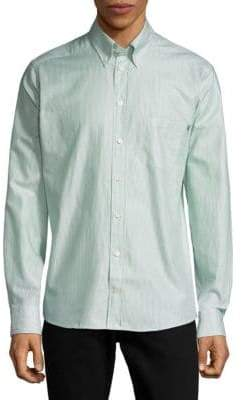 Eton Stripe Long Sleeve Casual Button-Down Shirt
