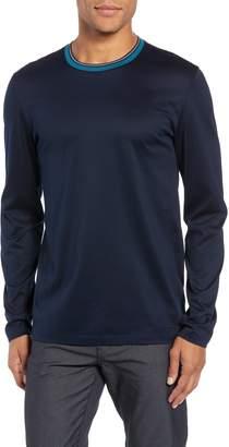BOSS Tenison Mercerized Long Sleeve Slim Fit T-Shirt