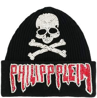 Philipp Plein logo beanie