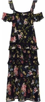 Nicholas Savanna Tiered Floral-Print Silk-Chiffon Maxi Dress