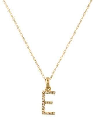 14K Initial E Pendant Necklace