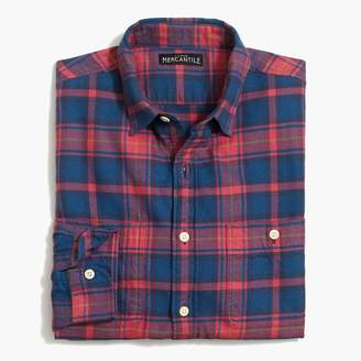 Mercantile Slim-fit flannel shirt in plaid