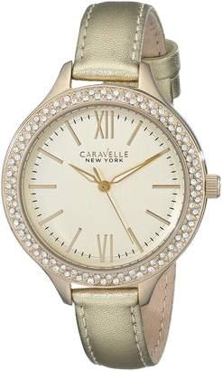 Bulova CARAVELLE NEW YORK Women's 44L131 Leather Watch