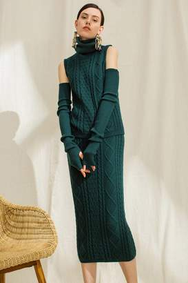 Genuine People Sleeveless Knit Top and Midi Skirt Set
