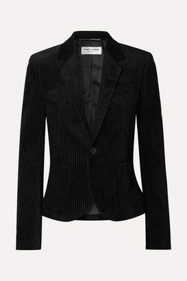 Saint Laurent Cotton-corduroy Blazer - Black