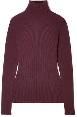 Hillier Bartley - Ribbed Cashmere Turtleneck Sweater - Burgundy