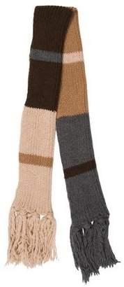Dolce & Gabbana Striped Chunky Knit Scarf w/ Tags