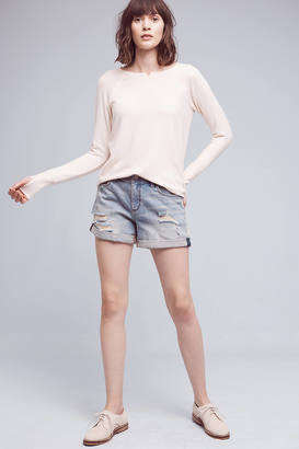 Pilcro Hyphen Denim Roll-Up Shorts $78 thestylecure.com