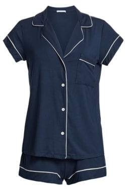 Eberjey Gisele Short-Sleeve Pajama Top and Shorts