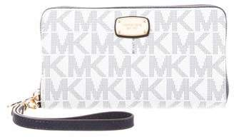 Michael Kors Leather Zip-Around Wallet
