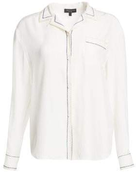 Rag & Bone Anika Silk PJ Shirt