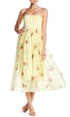 Lola Made In Italy Rose Print Convertible Maxi Skirt & Dress