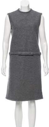 Black Fleece Sleeveless Wool Dress