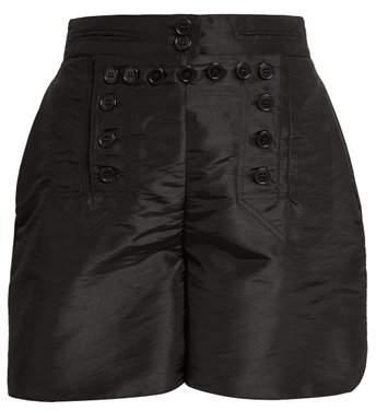 CECILIE BAHNSEN Ane button-front taffeta shorts