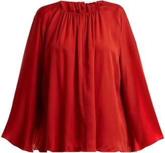 The Row Lancy silk-charmeuse top