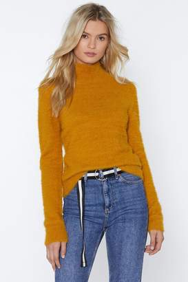 Nasty Gal Touch and Go Fluffy Sweater