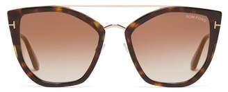 Tom Ford Aviator Tortoiseshell Acetate Sunglasses - Womens - Tortoiseshell
