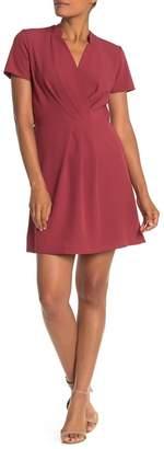 Vanity Room Pleated Short Sleeve Dress