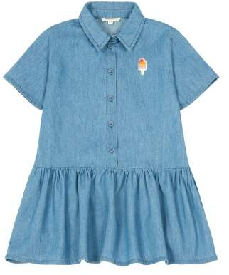 Hundred Pieces Sale - Ice Cream Chambray Shirt Dress