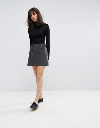 Weekday Zip Mini Skirt