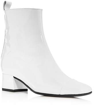 Carel Women's Estime Patent Leather Block Heel Booties