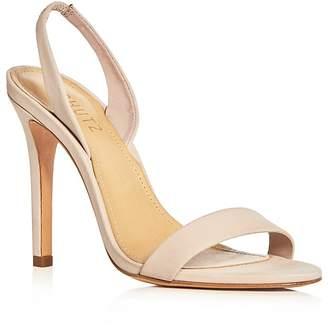 Schutz Women's Luriane Nubuck Leather Slingback Sandals