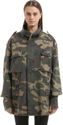 Oversized Camouflage Canvas Field Jacket $775 thestylecure.com