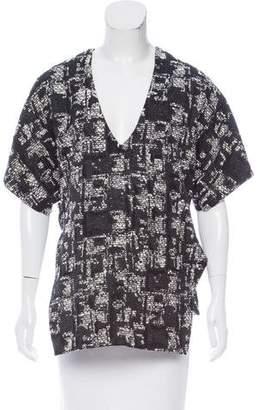 Marissa Webb Patterned Short Sleeve Top
