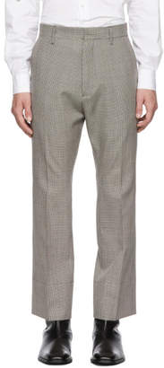 DSQUARED2 Multicolor Cropped Flare Houndstooth Trousers