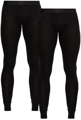 Cdlp - Set Of Two Stretch Jersey Thermal Leggings - Mens - Black