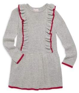 Design History Little Girl's Knit Ruffle Dress