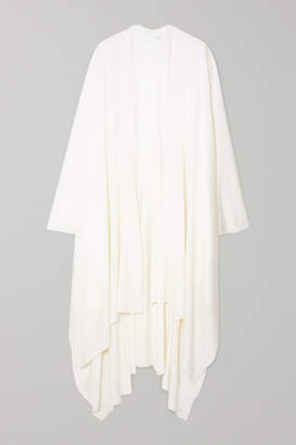 The Row Hern Merino Wool And Cashmere-blend Cape - Ivory