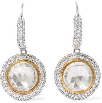Amrapali 18-karat Yellow And White Gold Diamond Earrings - one size