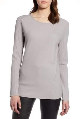 Halogen Long Sleeve Knit Cotton Tee (Regular & Petite)