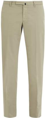 Incotex Mid-rise slim-leg stretch-cotton chino trousers
