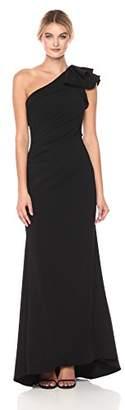 Carmen Marc Valvo Women's One Gown W/Ruffle On Shoulder