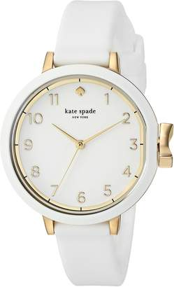 Kate Spade Women's 'Park Row' Quartz Stainless Steel and Silicone Casual Watch, Color (Model: KSW1441)