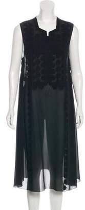 Jean Paul Gaultier Silk Midi Dress Black Silk Midi Dress