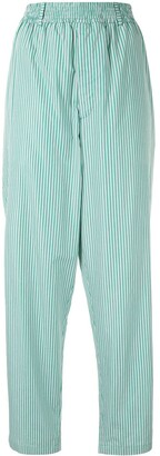Hermes Pre-Owned striped straight-leg trousers