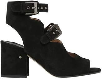 Laurence Dacade 70mm Noe Suede Double Buckle Sandals