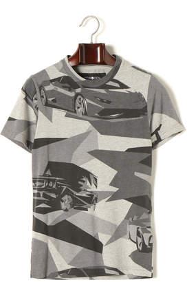 Hydrogen 迷彩柄 プリント クルーネック 半袖Tシャツ グレーカモ xs