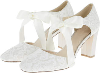 Monsoon Louisa Lace Two Part Ribbon Heels