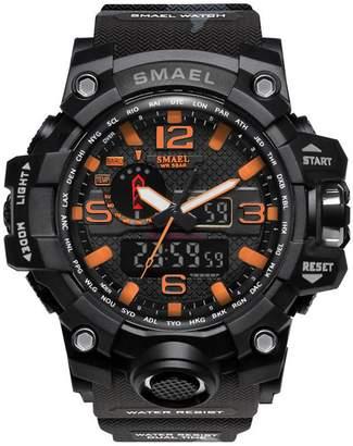 Ainclu Men's SMAEL Fashion Outdoor Sports Multifunction Alarm Waterproof Shockproof Electronic Watch