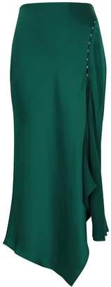 Jonathan Simkhai Teal Satin Midi Skirt