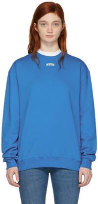 MSGM Blue College Logo Sweatshirt