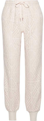 See by Chloe Pointelle-knit Tapered Pants - Cream
